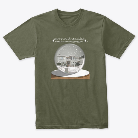 Merry Chrismukkah  O.C. T Shirt! Military Green T-Shirt Front