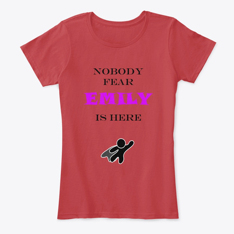 Nobody Fear   Emily Classic Red T-Shirt Front