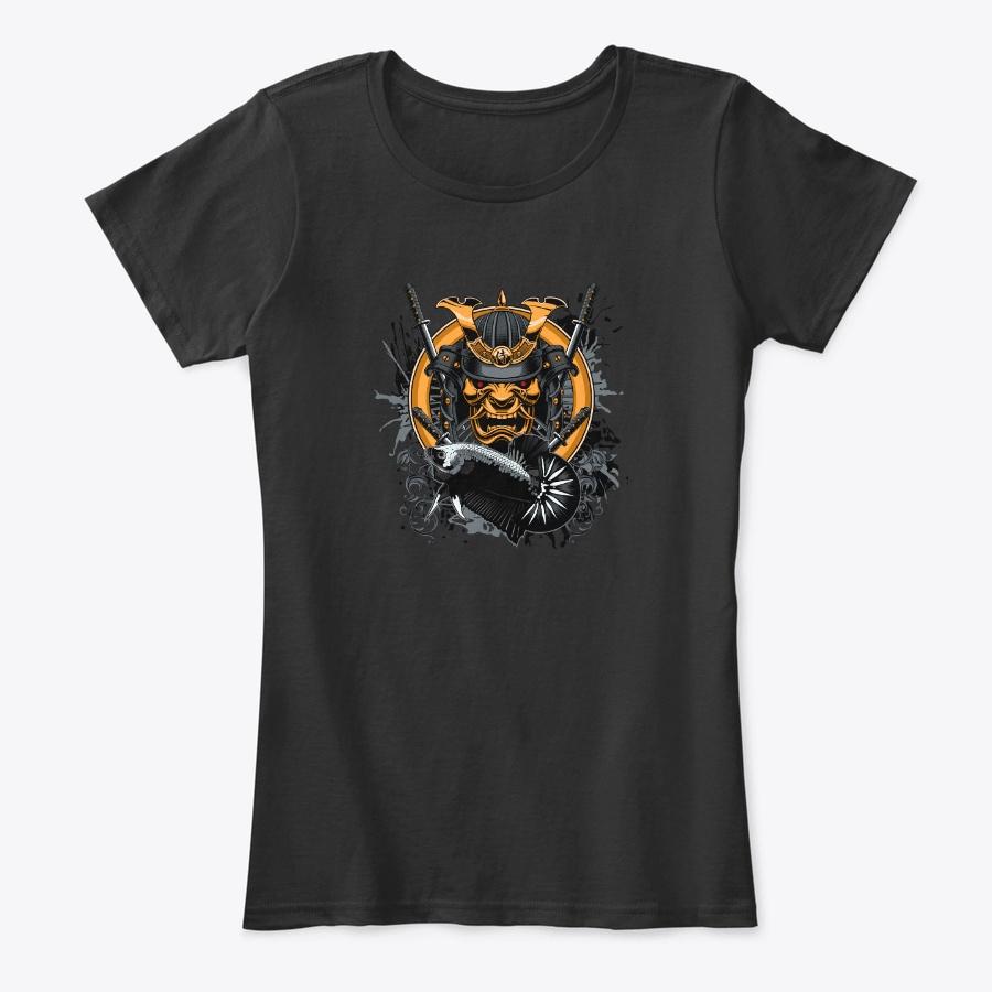 Women Black Samurai White Bab Logo Unisex Tshirt