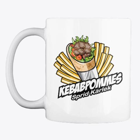 Kebabpommes Mug White T-Shirt Front