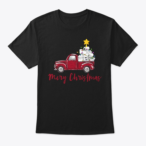 Merry Christmas Toilet Paper Truck Xmas Black T-Shirt Front