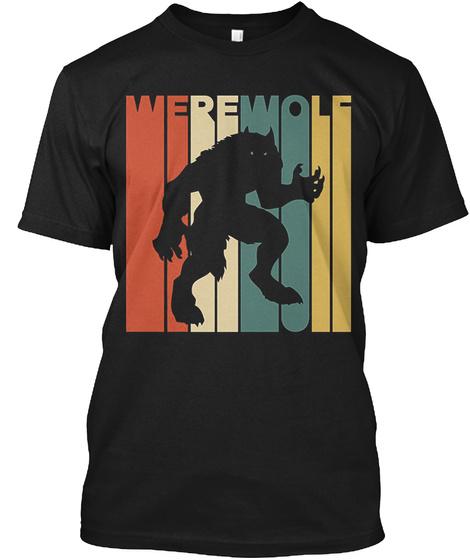 Werewolf Black T-Shirt Front