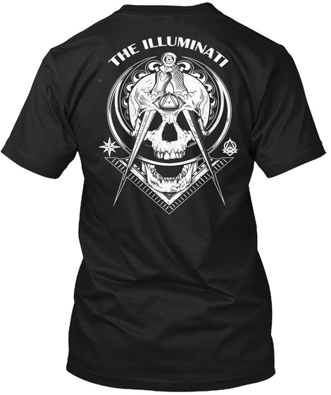 The Illuminati Black T-Shirt Back