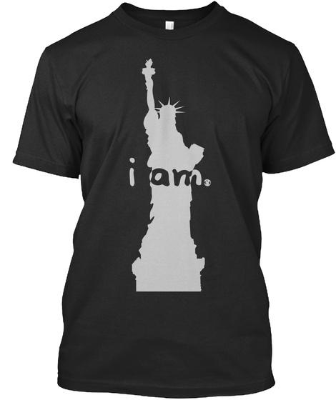 I Am. Black T-Shirt Front