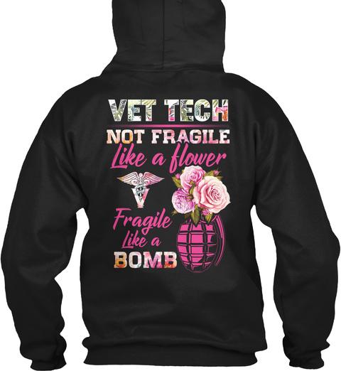 Vet Tech Hoodie Christmas Special Black T-Shirt Back