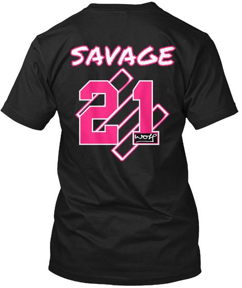 Savage 21 Work Black T-Shirt Back
