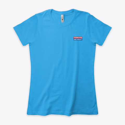 Taekiss Taekiss Turquoise T-Shirt Front