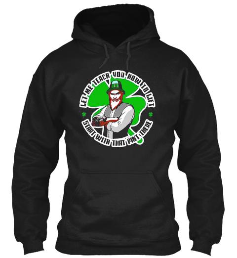 Funny Hipster Leprechaun Saint Patricks Day   Art T Shirt Black T-Shirt Front