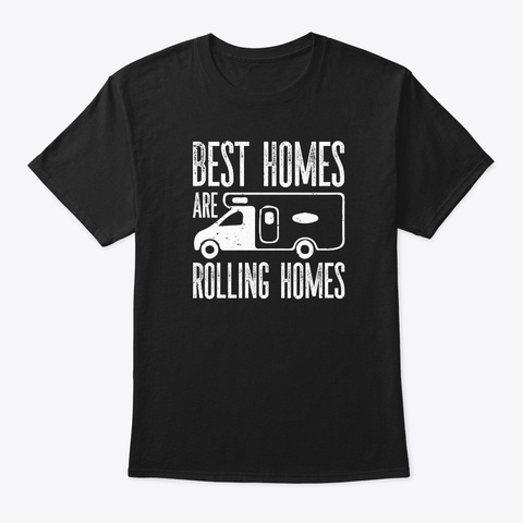Camping Outdoors Black T-Shirt Front
