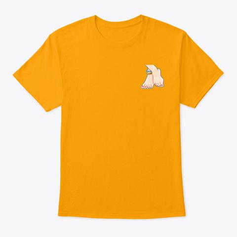 D.Ver Feet Gold T-Shirt Front