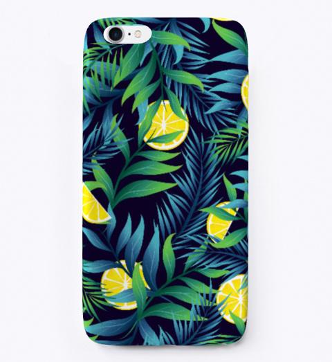 Summer Background With Vegetation Lemons Black T-Shirt Front