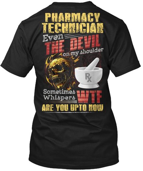 Awesome Pharmacy Technician Black T-Shirt Back