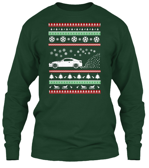 Brz/Frs Ugly Christmas Sweater! Forest Green T-Shirt Front