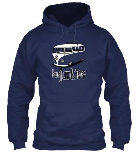 Busjunkies  Navy Sweater Front