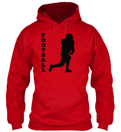 Hoodie Football Player Red T-Shirt Front
