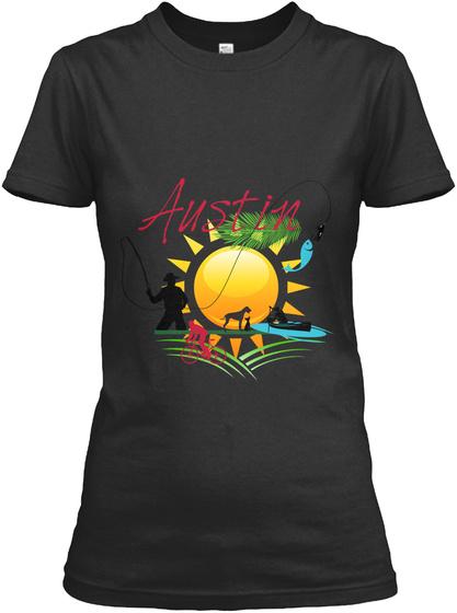 Austin Black T-Shirt Front