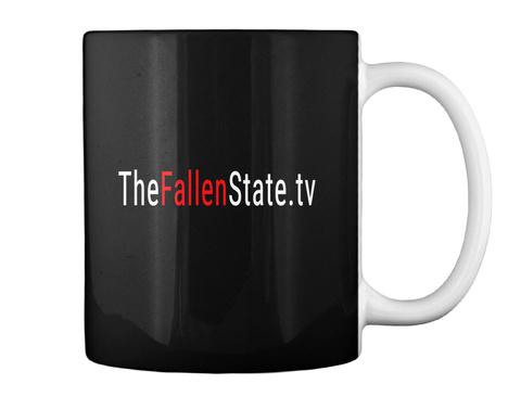Thefallenstate.Tv Black T-Shirt Back