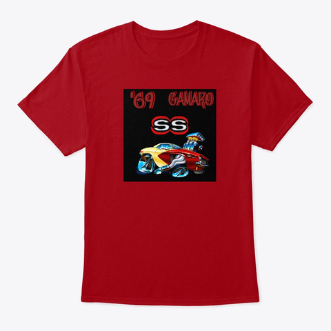American Classic Muscle Car Tee Shirt Deep Red T-Shirt Front