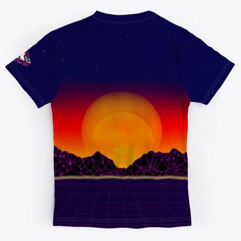 Bit Block Art Fanshop Black T-Shirt Back