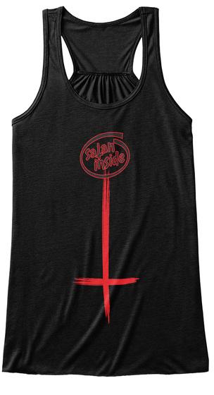 Satan Inside Black T-Shirt Front