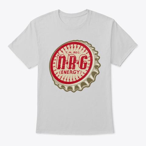Vintage Nrg Energy Soda Bottle Cap Light Steel T-Shirt Front
