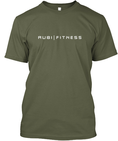 Rubi Fitness Military Green T-Shirt Front
