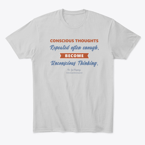 Conscious Thoughts Light Heather Grey  T-Shirt Front