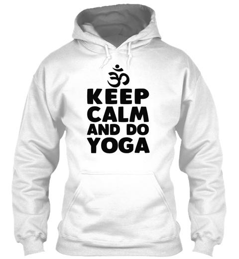 Yoga Meditation Stretching Stretch Shirt White T-Shirt Front
