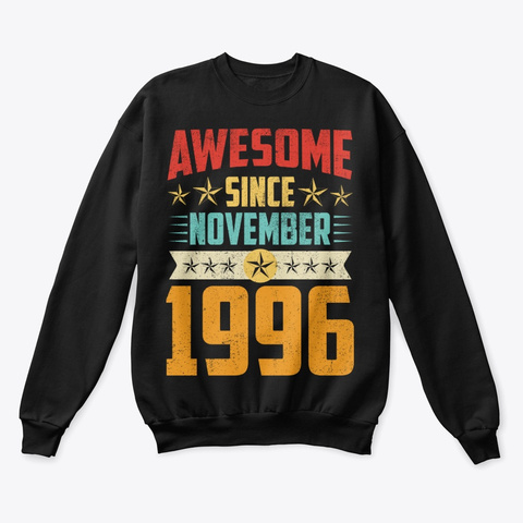 Awesome Since November 1996 Shirt Black T-Shirt Front