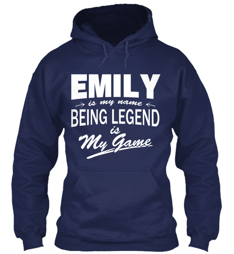 Emily Name, Legend Game Navy T-Shirt Front