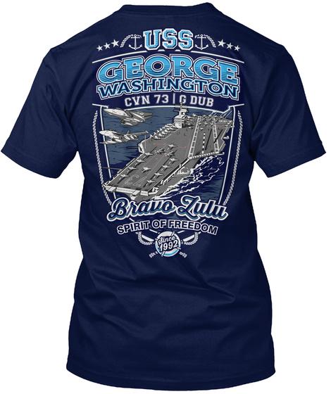 Uss George Washington Cvn 73 Navy T-Shirt Back