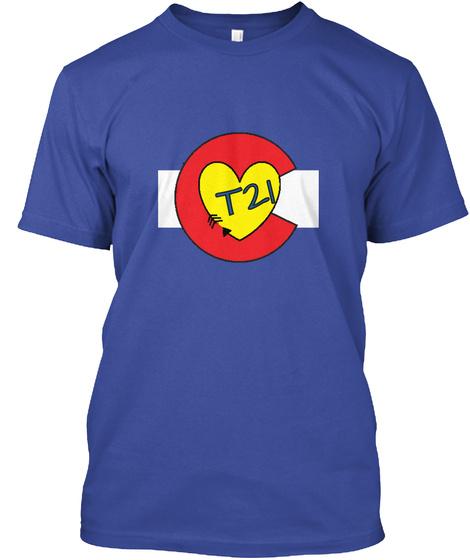 T21 Deep Royal T-Shirt Front
