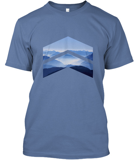 Blue Mountains Denim Blue T-Shirt Front