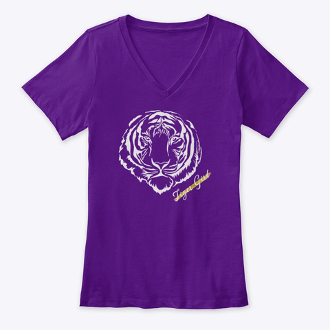 Tiger Girl Team Purple  T-Shirt Front