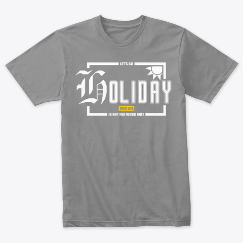 Holiday Premium Heather T-Shirt Front