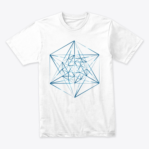 Vector Matrix Series   Sharp Blue White T-Shirt Front