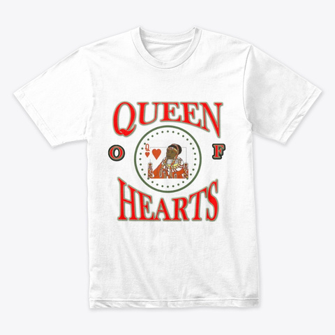 Queen Of Hearts  White T-Shirt Front
