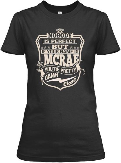 Nobody Perfect Mcrae Thing Shirts Black T-Shirt Front