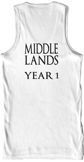 Middle Lands Year 1 White Tank Top Back