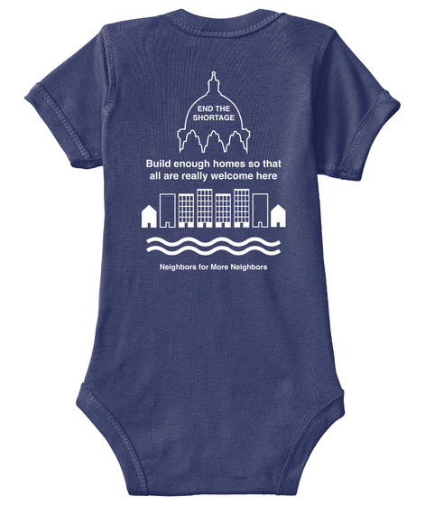 Yimby Babywear: More Homes In St. Paul Navy  T-Shirt Back