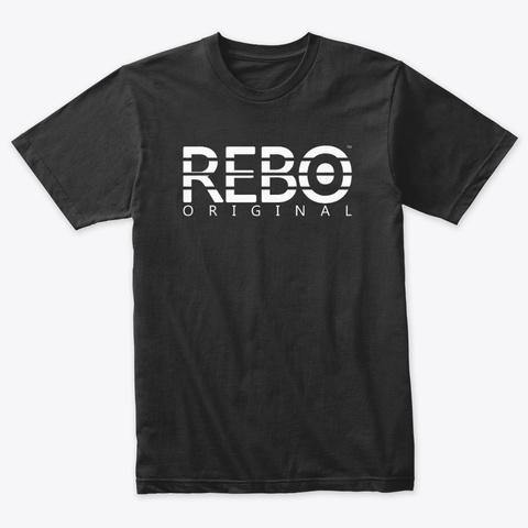 Rebo I T Shirt Vintage Black T-Shirt Front