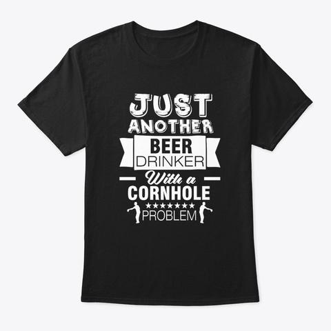 Cornhole Game Backyard Tailgate Black T-Shirt Front