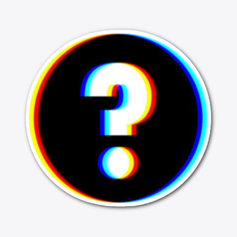 Question   Sticker   Disk Standard T-Shirt Front