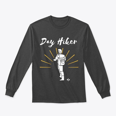 Mens Hiking T Shirt Collection Dark Heather T-Shirt Front