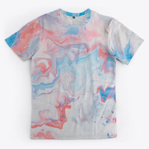 Psychedelic Abstract Marbled Paint Standard T-Shirt Front