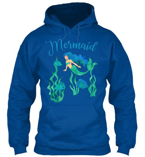Mermaid Underwater Ocean Royal T-Shirt Front