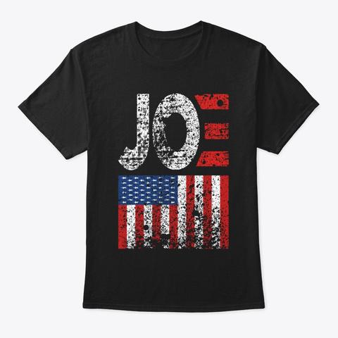 Biden Vintage Retro Distressed Usa Flag Black T-Shirt Front