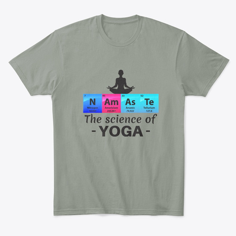 Namaste The Science Of Yoga Gift Grey T-Shirt Front