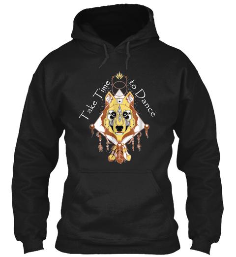 Native American Wolf Spiritual Dance Nov Black T-Shirt Front
