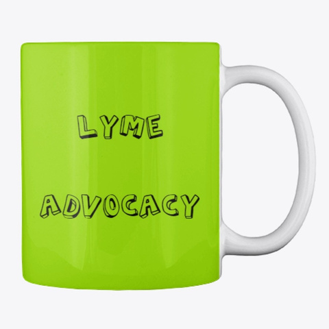 Learn Understand Act For Lyme Advocacy Lime Green T-Shirt Back